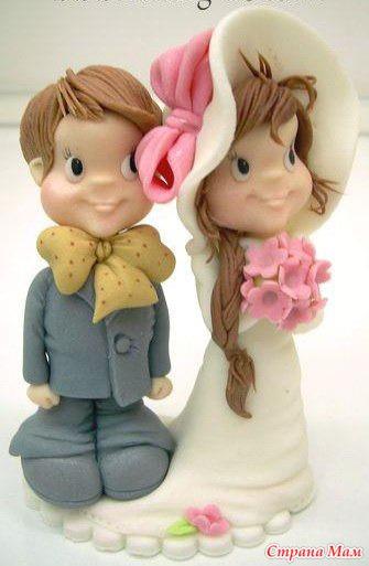 Фигурки из мастики свадебные