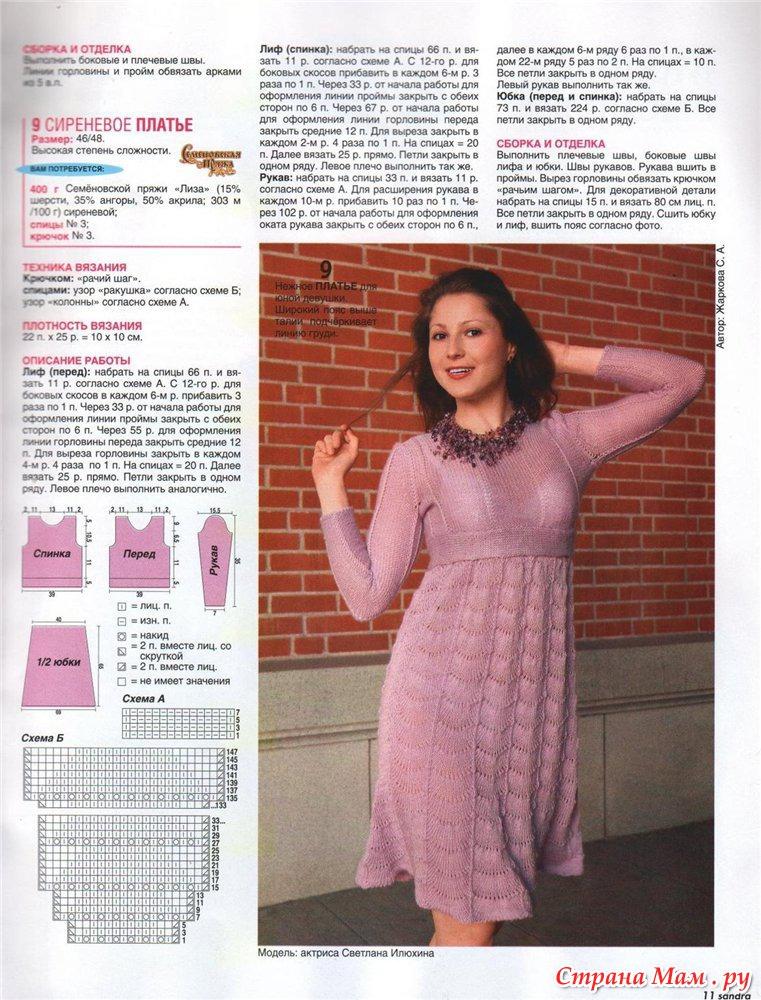 Вязание на спицах для женщин-платья