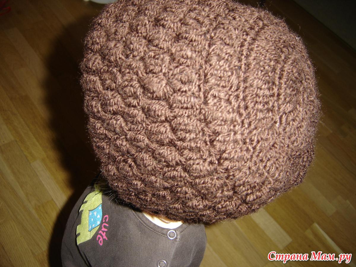 Видео вязание шапки на зиму