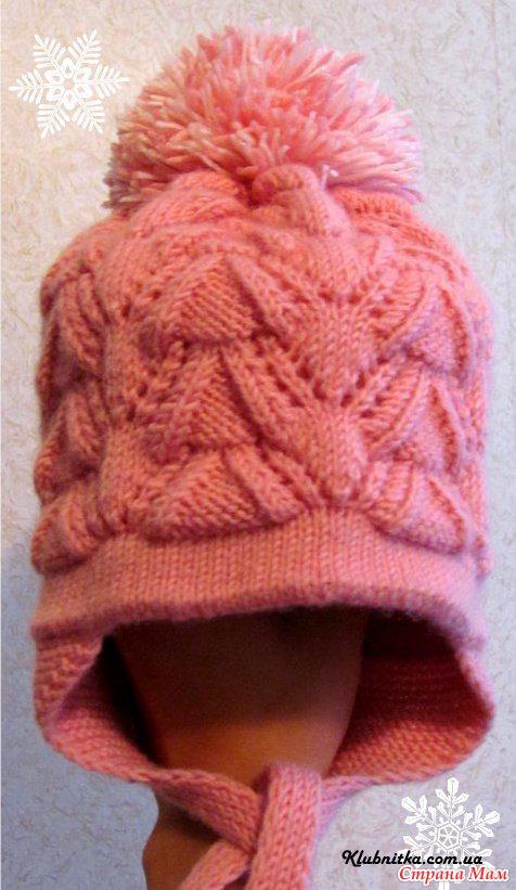 Вязание шапочки для девочки спицами с описанием мастер класс