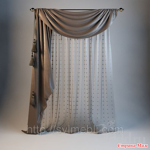 Тюль на маленькое окно