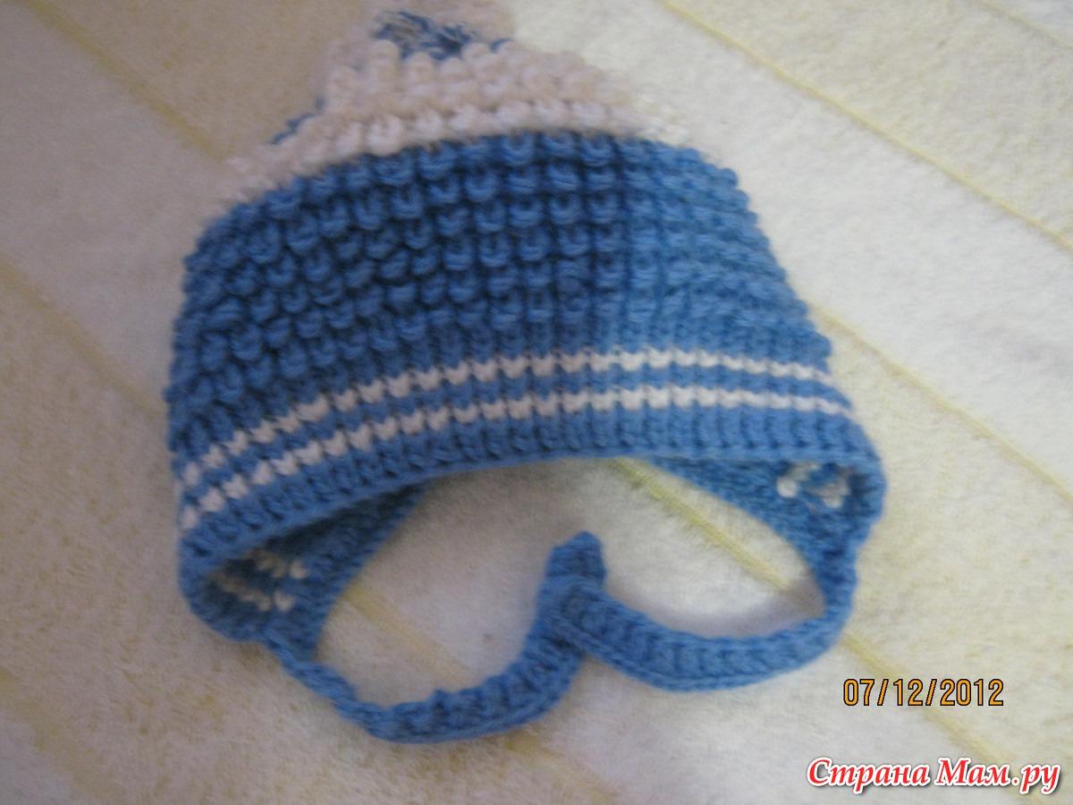 Вязание чепчика спицами с пошаговым фото
