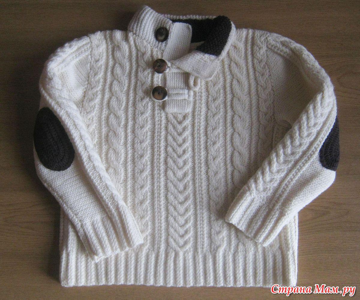 Связать свитер мальчику 3 лет