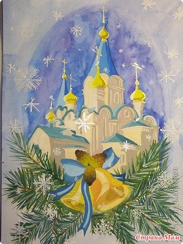 На рождество рисунки своими руками