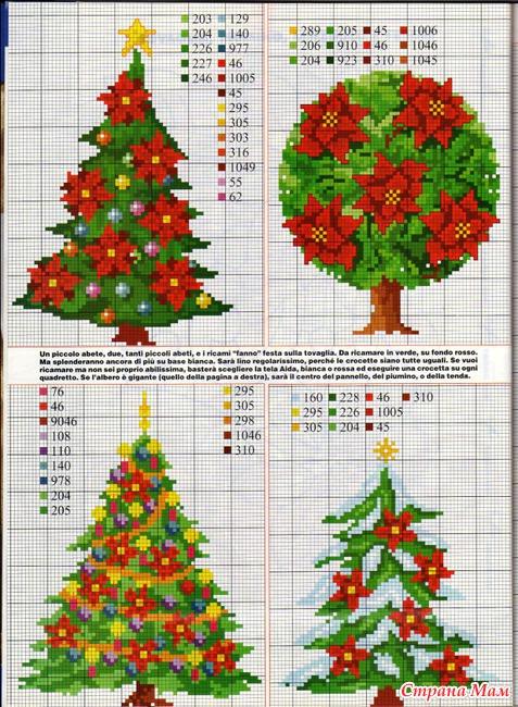 Рождественские деревья - схемы