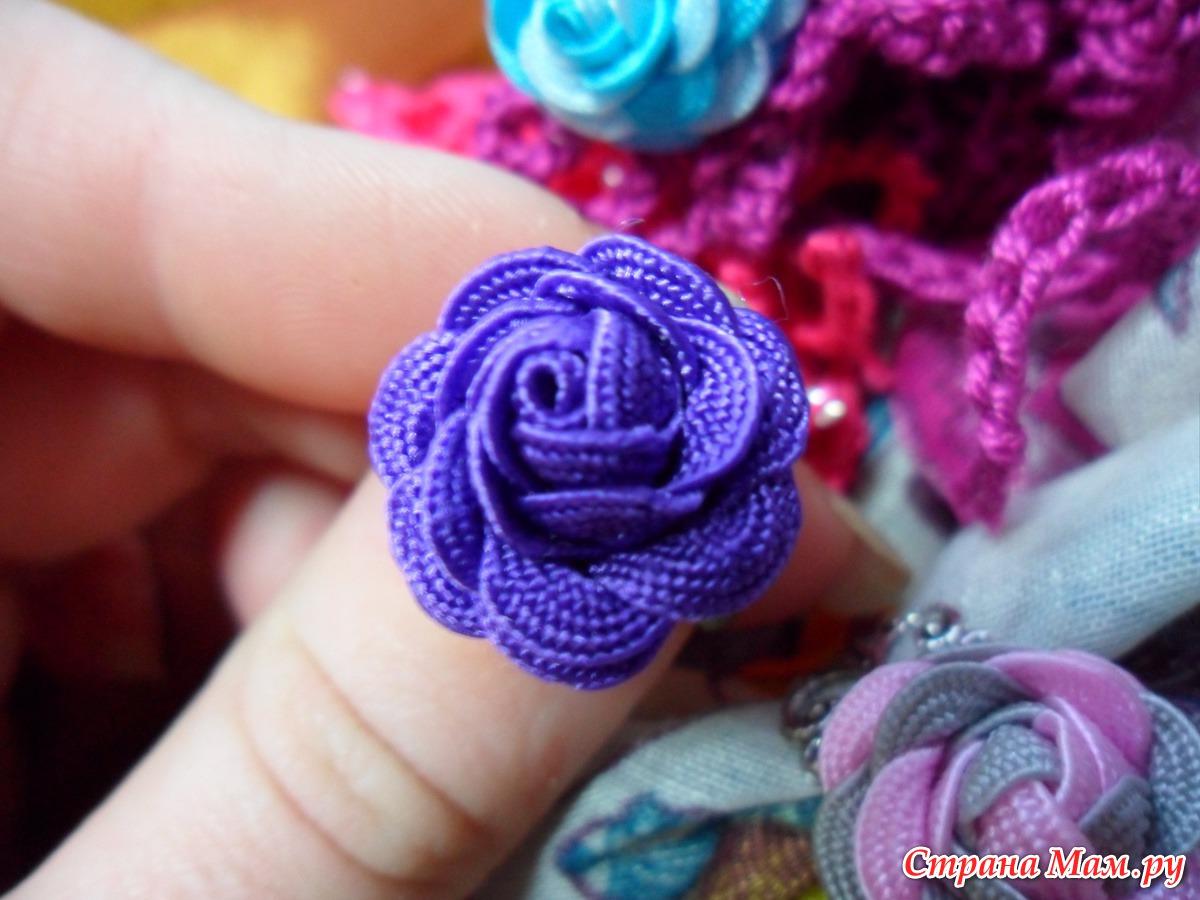 Как сделать розу для кольца