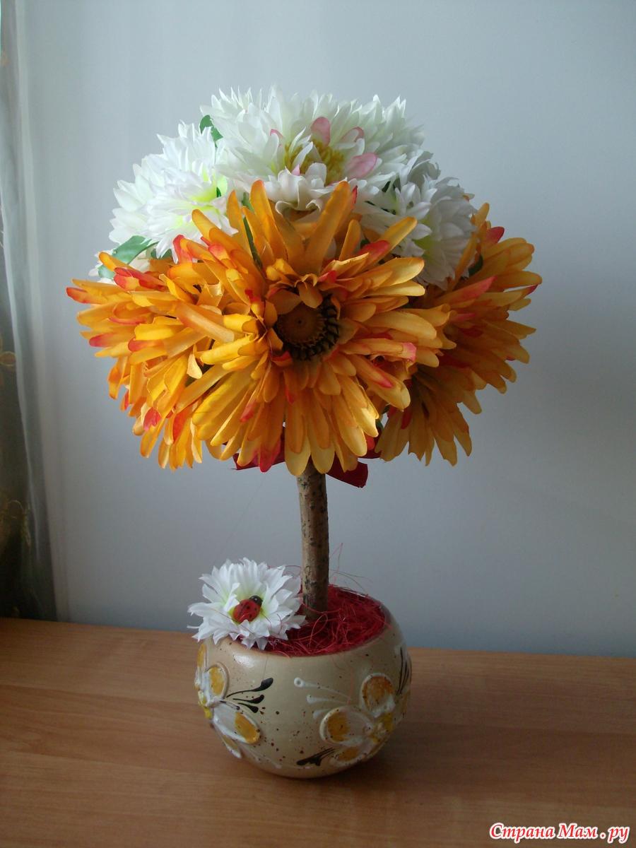 Осенний топиарий своими руками фото 64