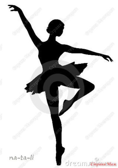 Балеринки из бумаги схемы