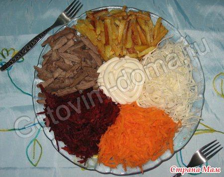 Салаты с жареной морковью с фото