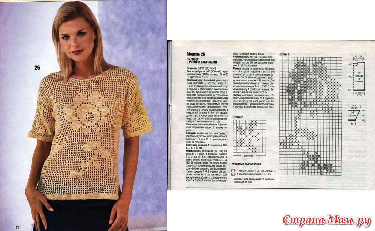 Вязание крючком филейное для женщин модные модели 2018 года с описанием 26