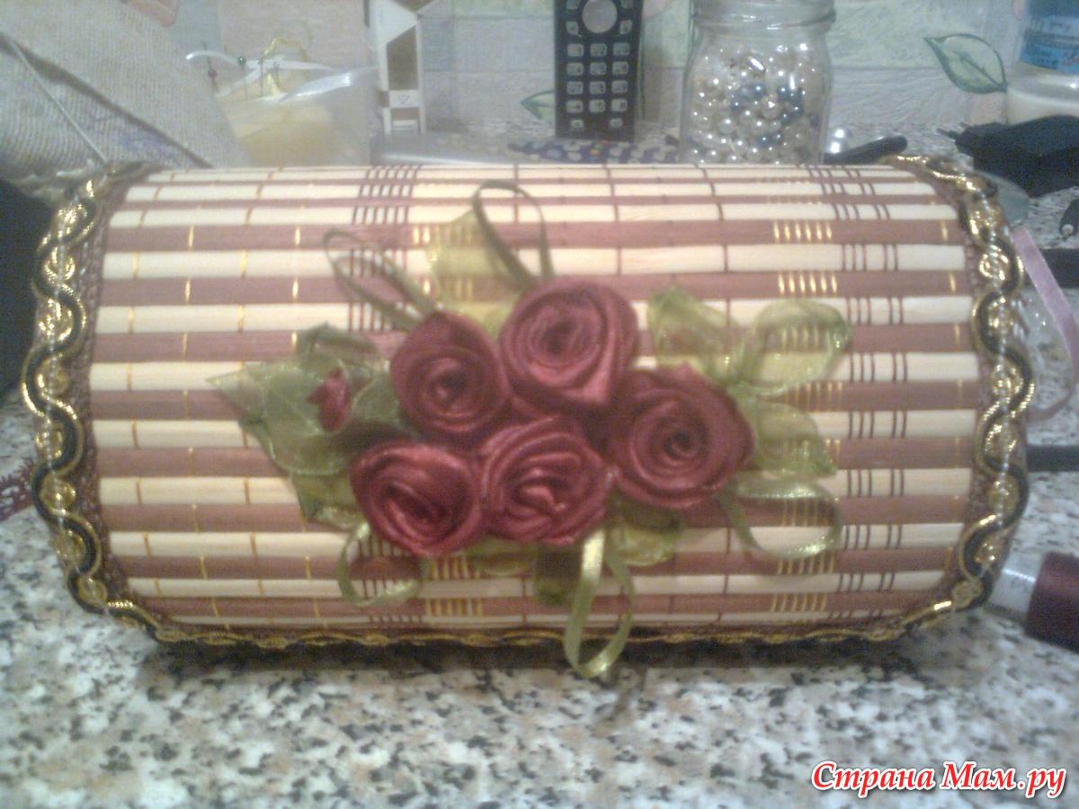 Шкатулки из бамбуковых салфеток Страна Мастеров 64