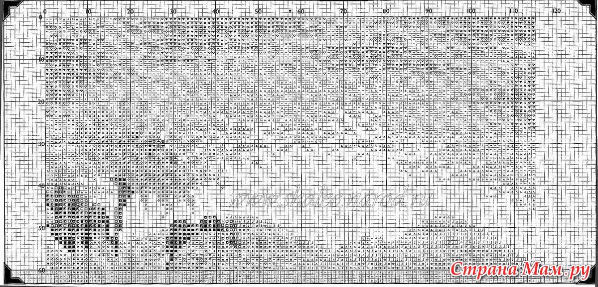 акварель - вышивка (схема)