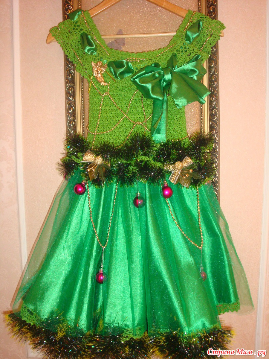 Новогоднее платье для девочки 3 года своими руками