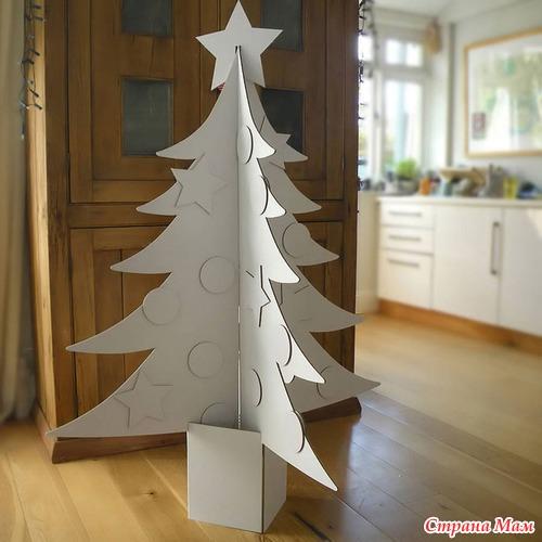 Как делать елку из картона своими руками