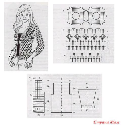 Схемы вязания мотивов - схемы для вязания - уроки вязания
