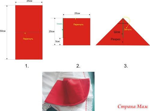 Как сшить чепчик красной шапочки