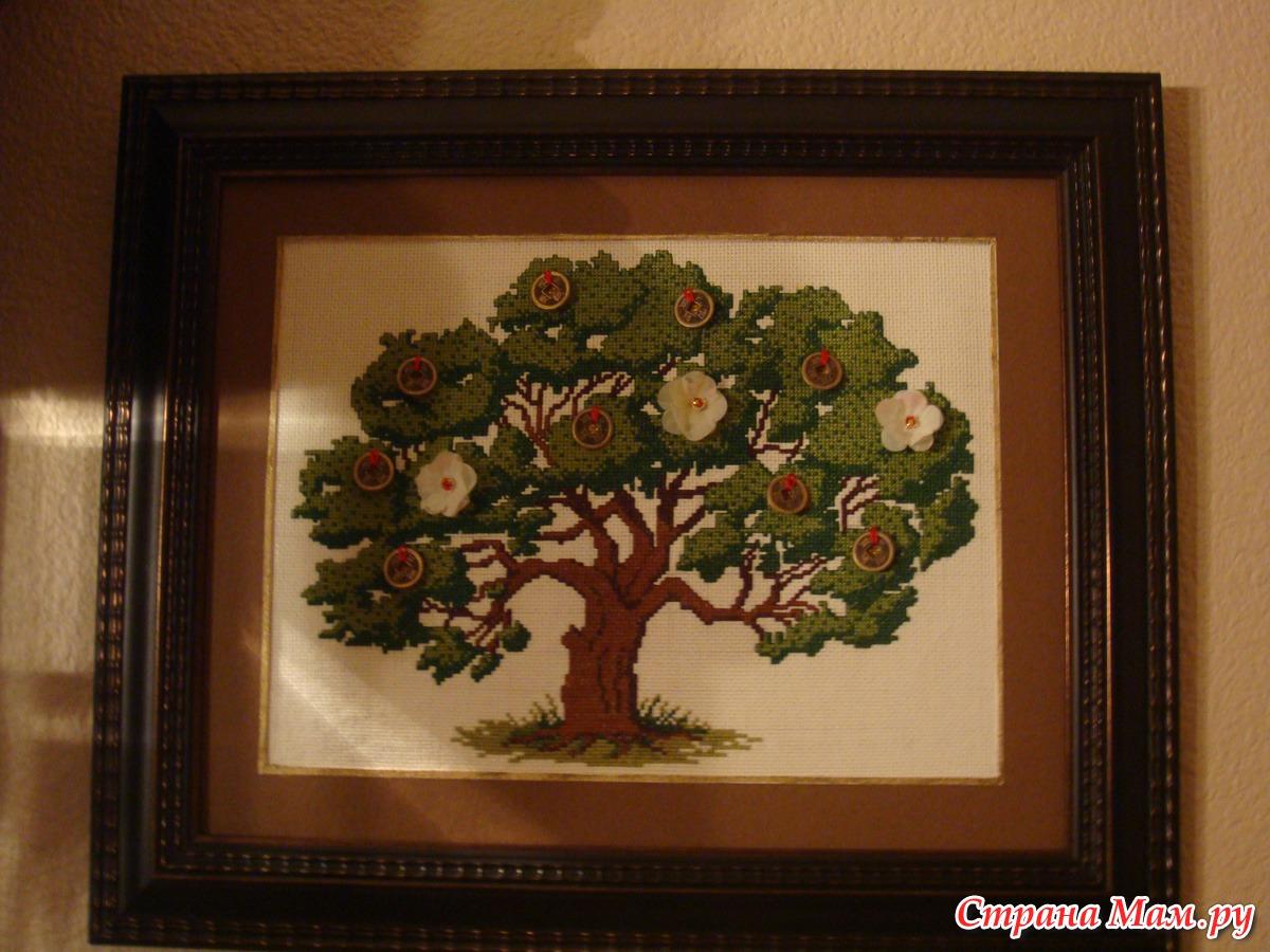 Вышивка крестиком денежное дерево фото