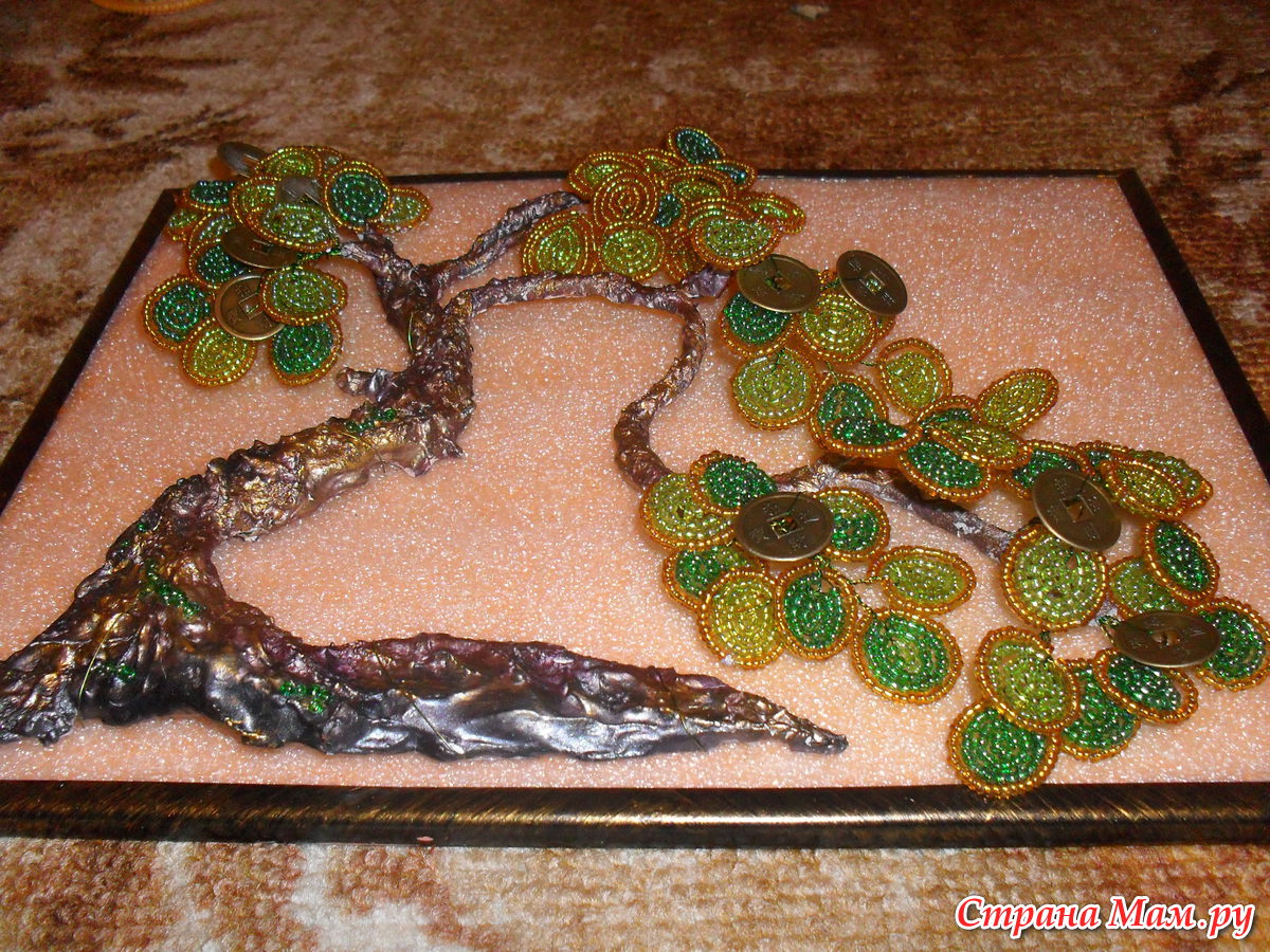 Картина Денежное дерево своими руками, мастер класс 84