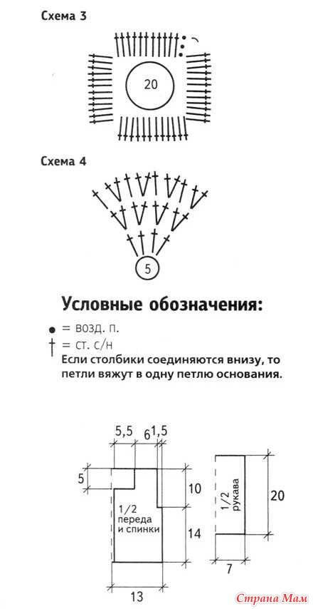 Далее вяжите по схеме 4.