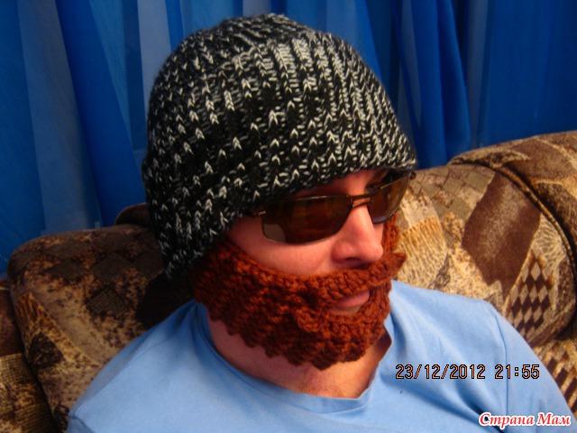 Шапка с бородой схема