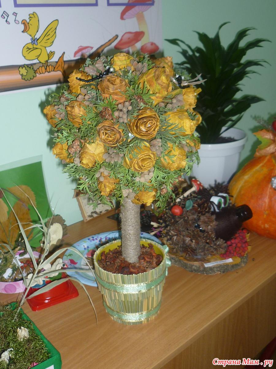 Деревья из подручных материалов своими руками фото