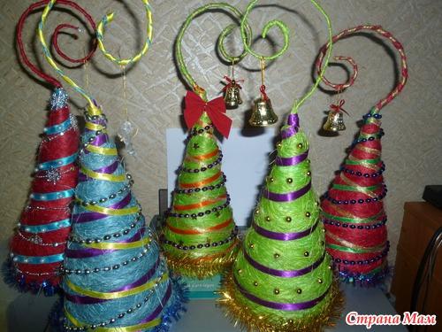 Новогодняя ёлка из сизаля своими руками