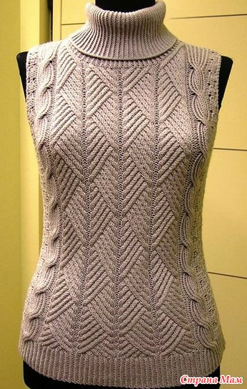 Узоры спицами схемы для свитера