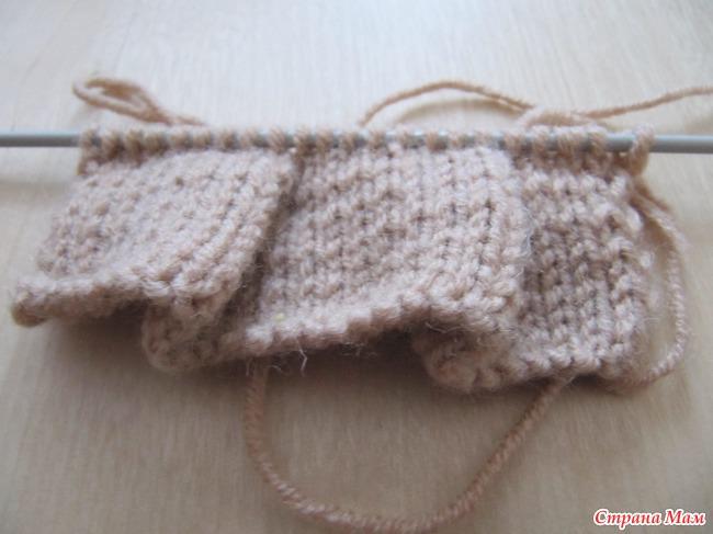 Спицы юбка детская в складку