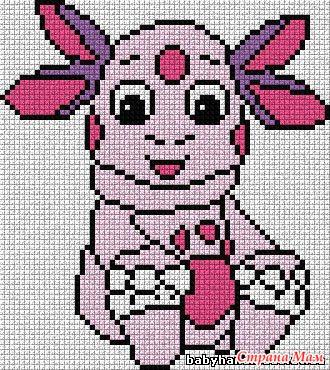 Схемы вышивок на вязаном полотне 676