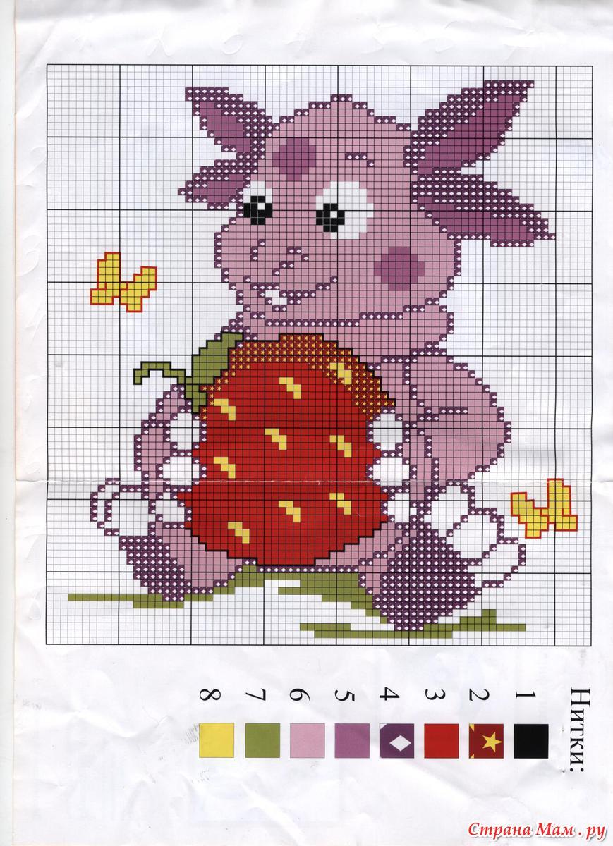 Схемы картинок для вязания медведь