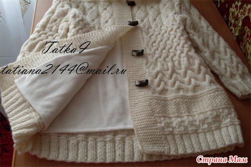 пальто вязаное для девочки схема