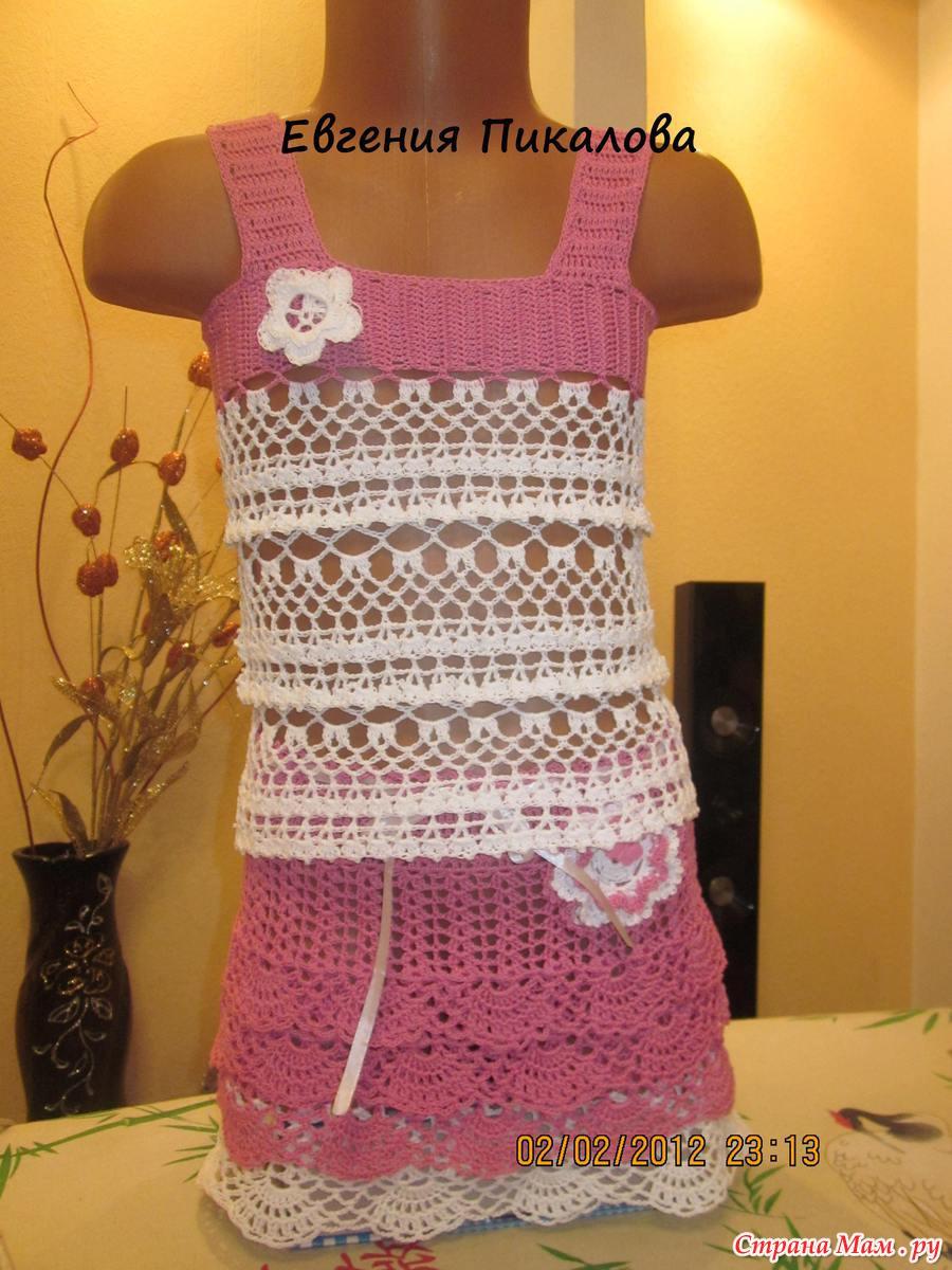 Вязание крючком девочкам маечки