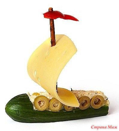 лодка в виде сыра