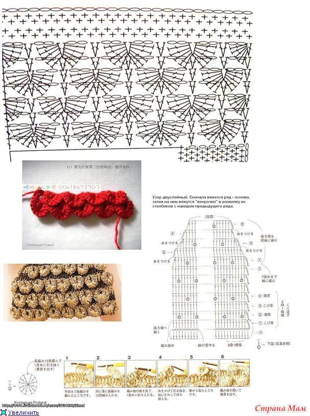 Плетение воротников схема