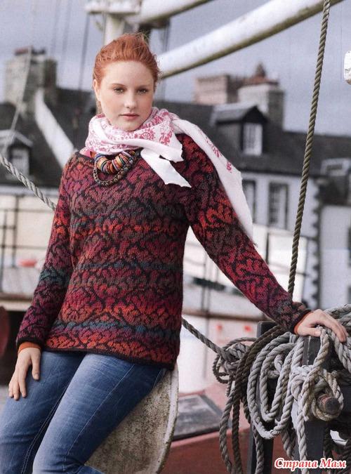 Жакет и пуловер жаккардовым узором