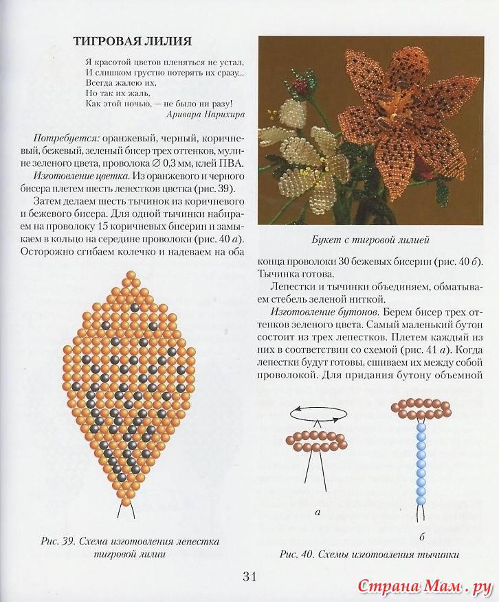 Бисероплетение для начинающих с описанием и схемы