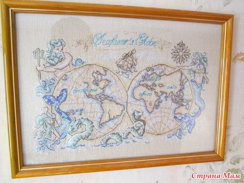 Карта мира крестиком))