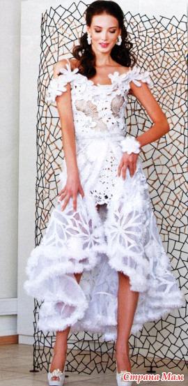 Связанные крючком платья фото