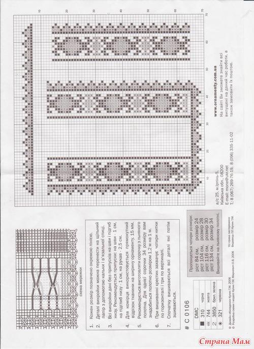 Схемы для мужских вышиванок