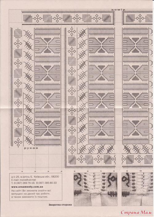 Схемы для мужских вышиванок.