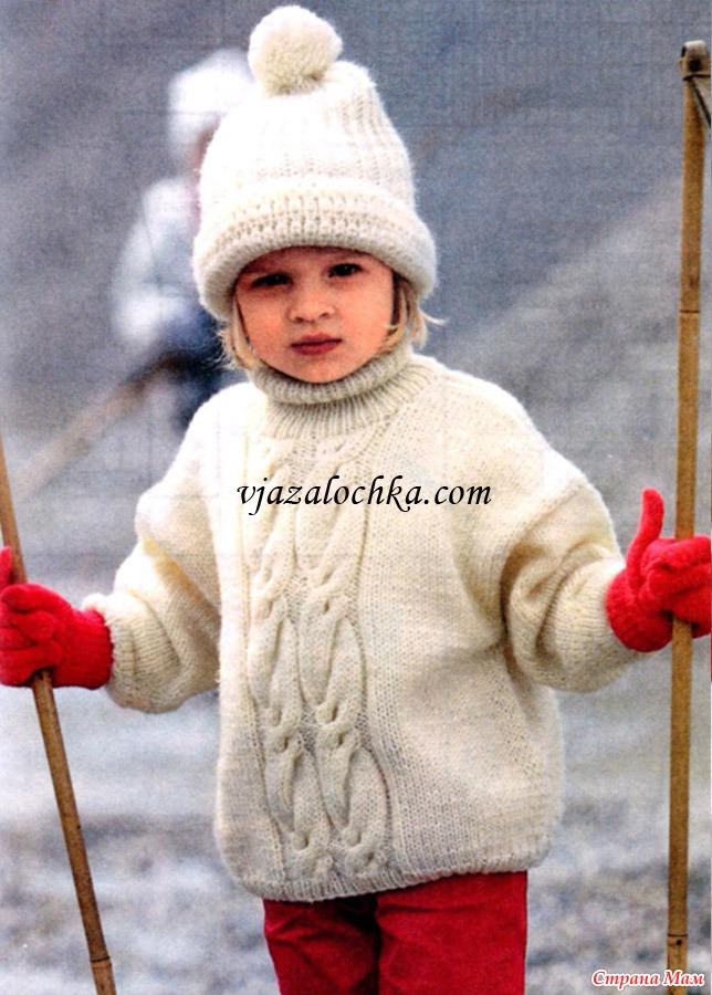 вязание крючком свитер с