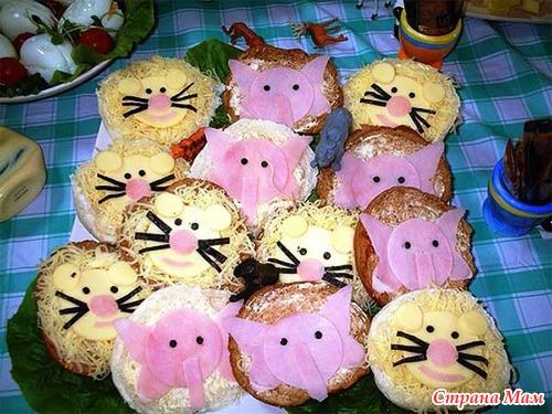 Праздничные бутерброды детей рецепты с фото