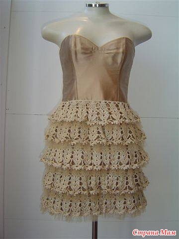 Основа юбки для рюш