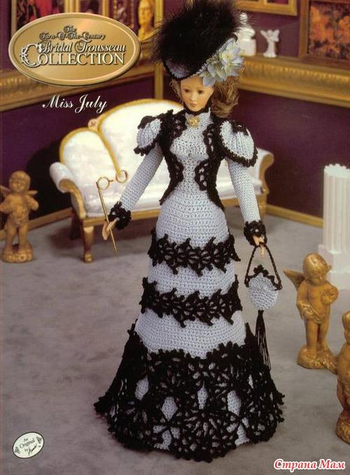 Одежда для куклы барби крючком своими руками