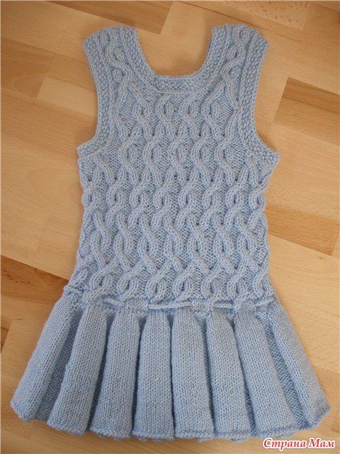 Вязание для детей платья