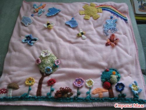 Элементы коврика вязаные
