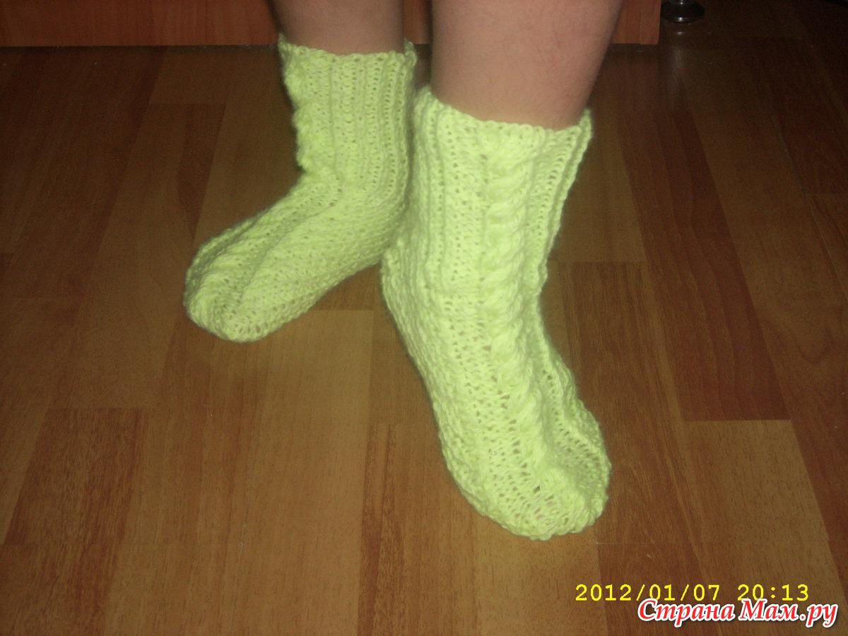 Вязание носков для девочки до года
