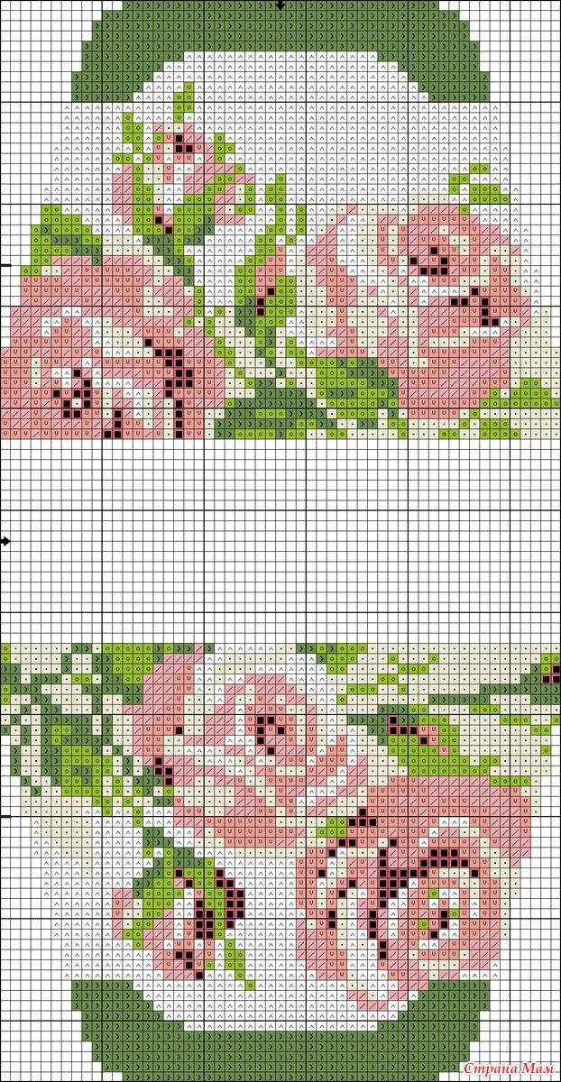 Схема вышивки для сумочки игольницы