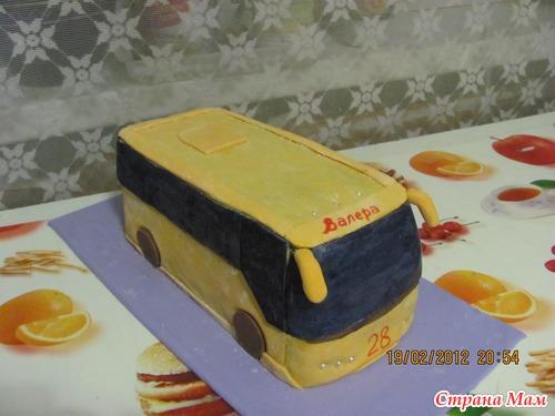 торт автобус фото