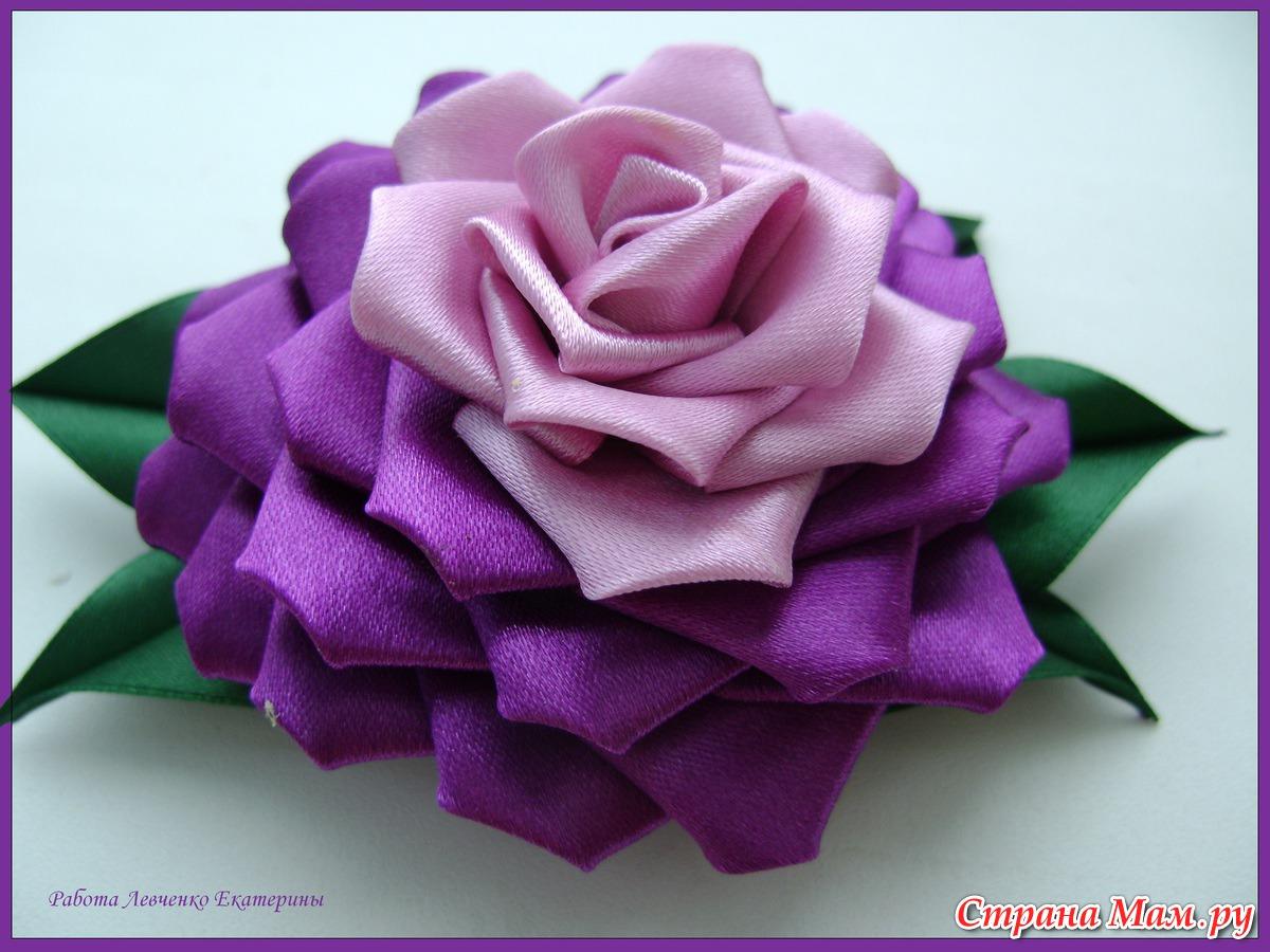 Как сделать ткани роза